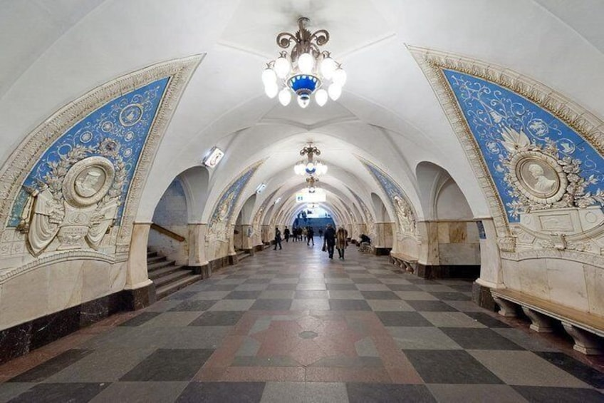 Show item 2 of 9. 10 Most Beautiful Moscow Metro Stations