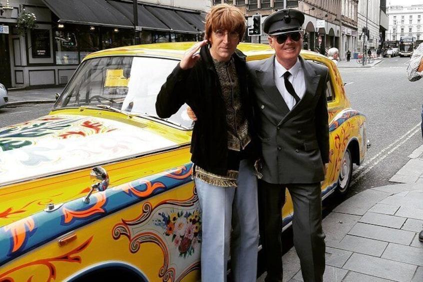 Javi & chauffeur on North John Street, Liverpool.