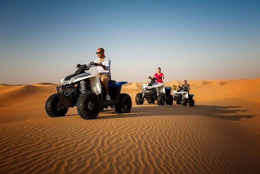 Morning Desert Safari with Quad Bike Tour Abu Dhabi