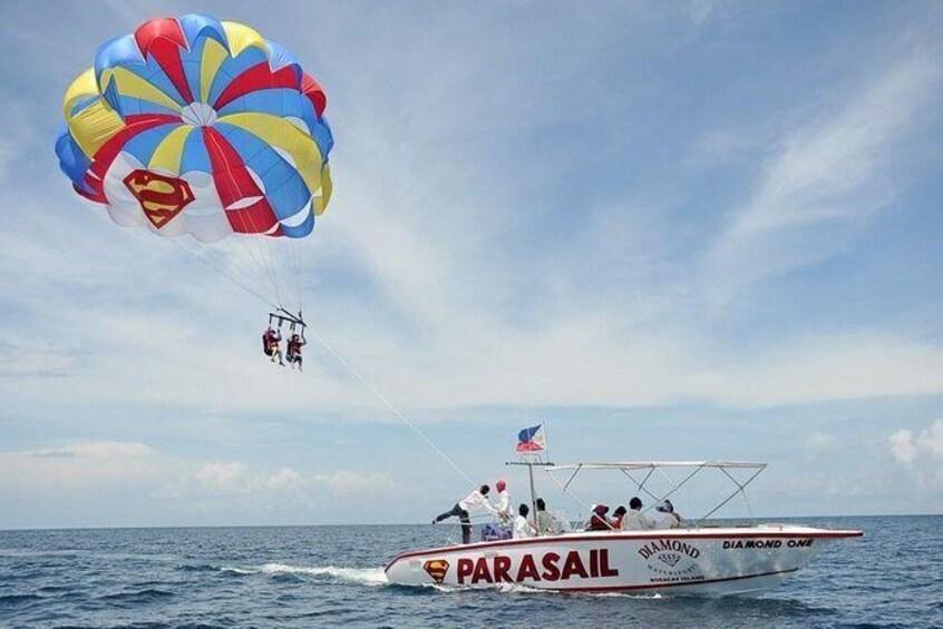 Show item 4 of 8. Boracay Parasailing (2-3 Flyer)