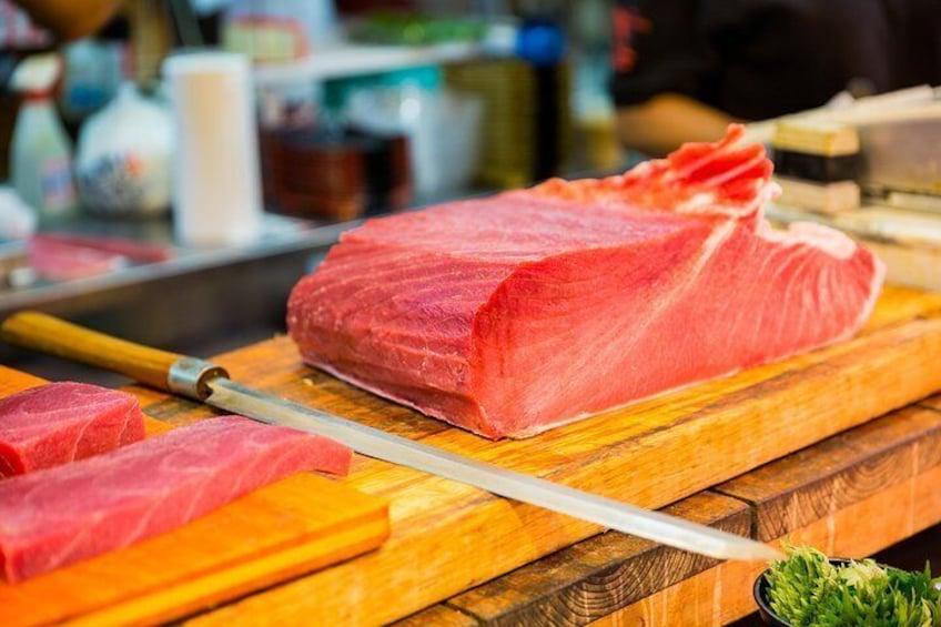 Fresh tuna is also super tasty!!