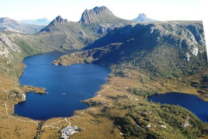 Cradle Mountain aerial view