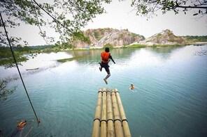 Tadom Hill Splashing Adventure including Diving Platform & Tarzan Swing