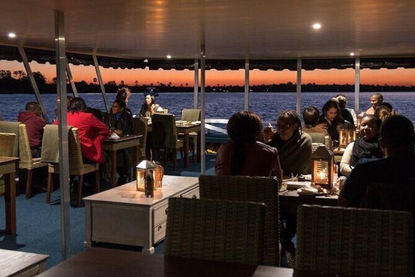 Dinner Cruise on the Zambezi River, Victoria Falls