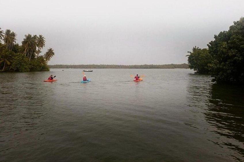 Kayaking in Paravur Backwaters