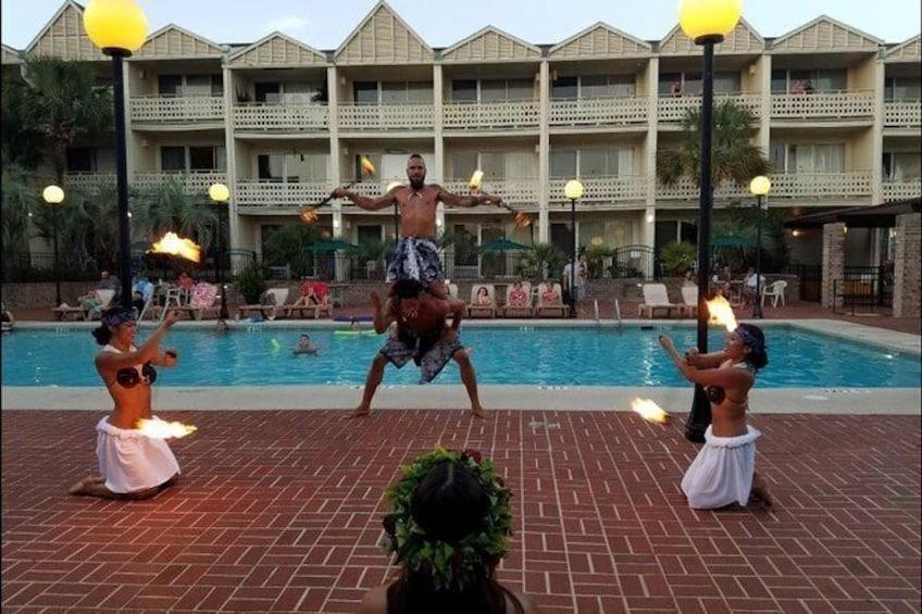 Show item 4 of 6. Skip the Line: Polynesian Fire Luau and Dinner Show Ticket at the Hawaiian Inn