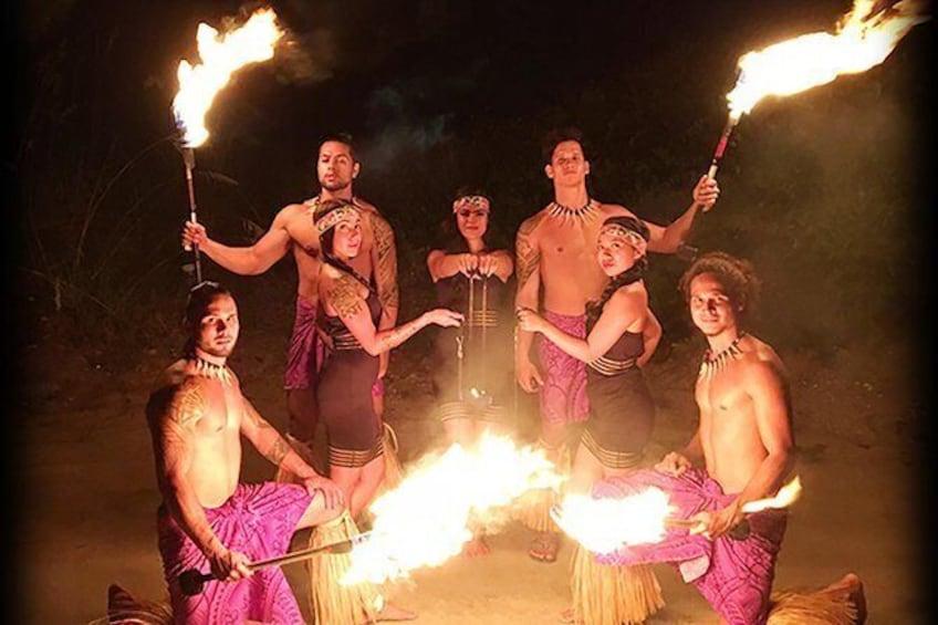 Show item 1 of 6. Skip the Line: Polynesian Fire Luau and Dinner Show Ticket at the Hawaiian Inn
