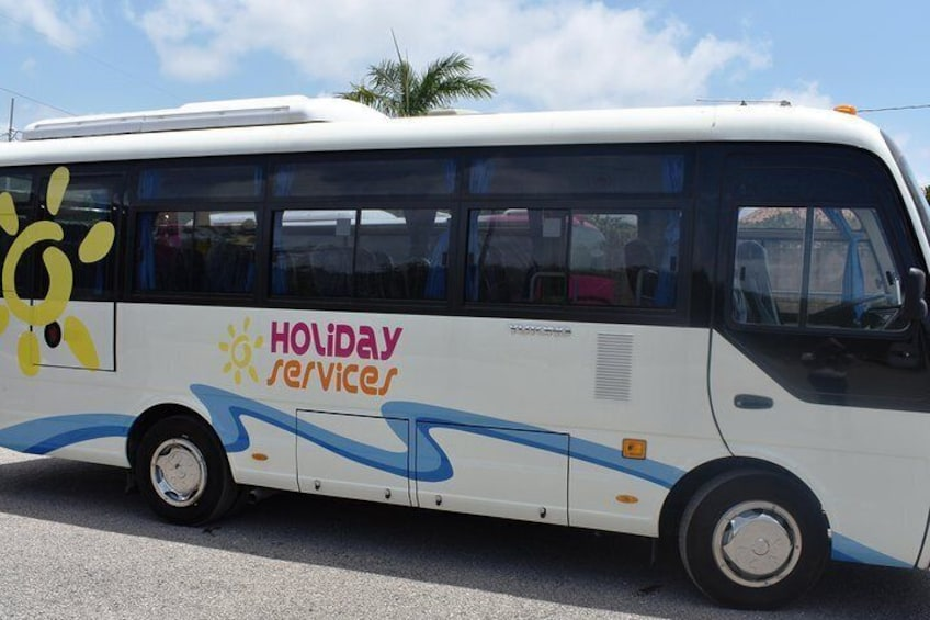 Air conditioned shared shuttle bus to your destination