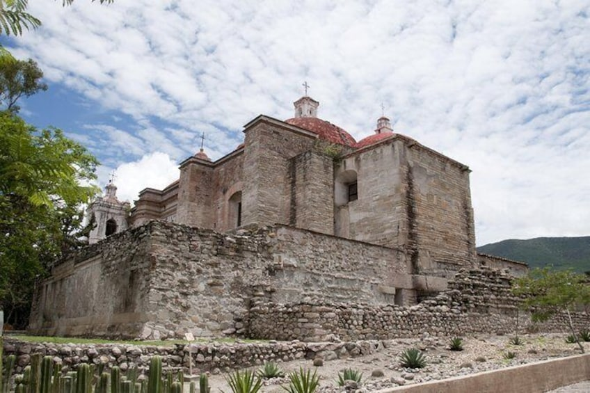 Show item 1 of 7. Day Trip to Hierve el Agua, Mitla, Tule, Mezcal, and Teotitlan del Valle
