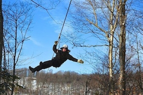 Mega Zip lines and Hike Mont Tremblant (2.5h)