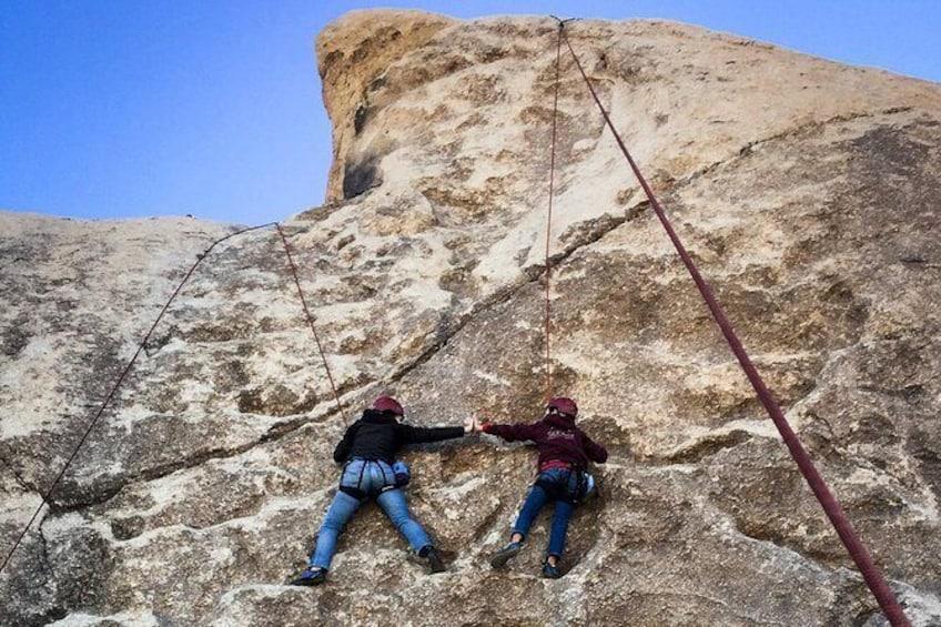 Show item 3 of 8. Beginner Group Rock Climbing in Joshua Tree National Park