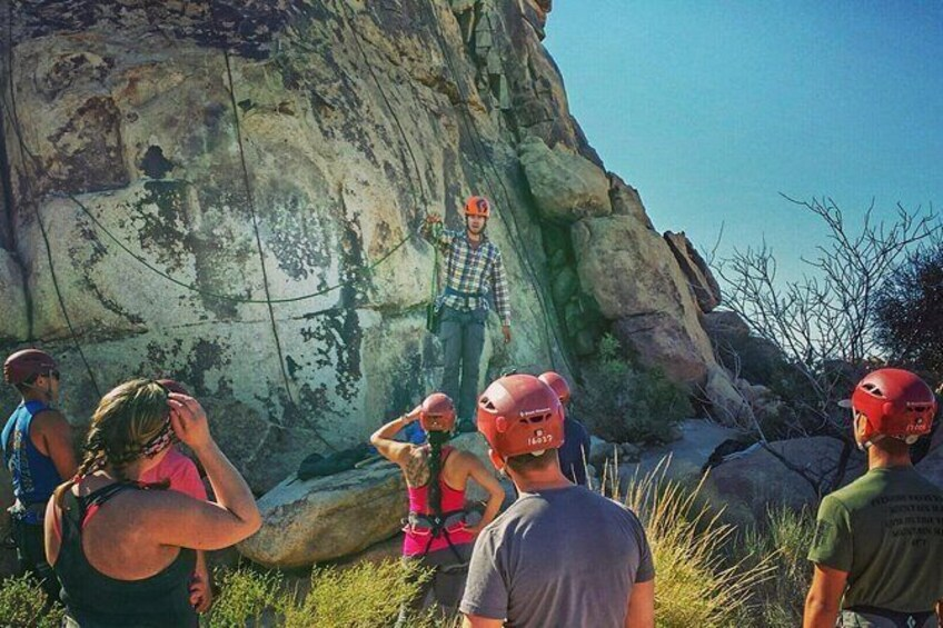 Show item 5 of 8. Beginner Group Rock Climbing in Joshua Tree National Park