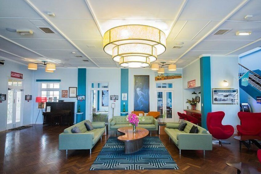 Enjoy the art-deco interior of the North Gregory Hotel