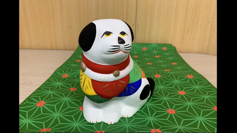 Show item 4 of 4. The trial painting lesson of Sadowara dolls