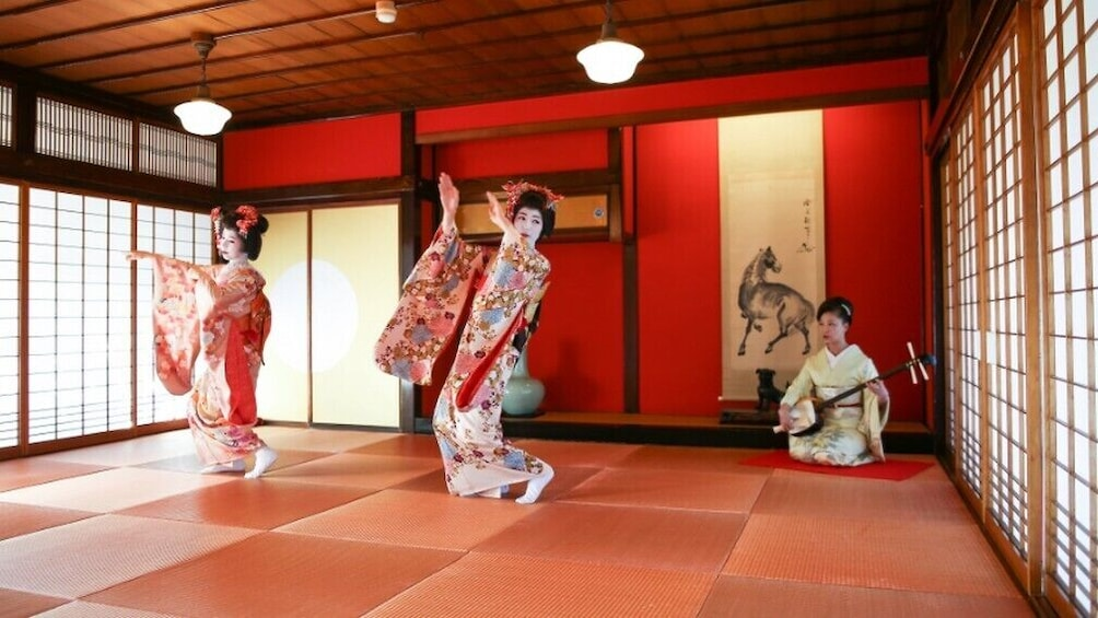 Show item 1 of 3. Winter Special,Maiko Dance at Somaro Teahouse Taxi plan A