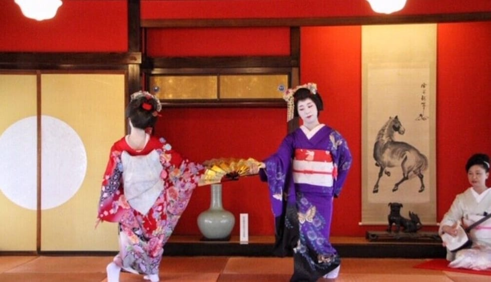 Show item 3 of 3. Winter Special,Maiko Dance at Somaro Teahouse Taxi plan A