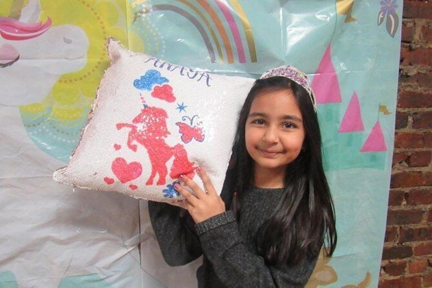 Show item 3 of 6. Design Your Own Flip Sequin Pillow