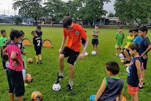 Free soccer (futbol) games with the local kids (for kids age 6 - 18)
