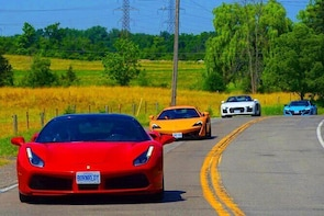 3 Hour Exotic car Tour driving 4 to 5 Super cars