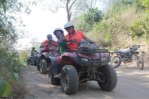 LIVE THE ADVENTURE WITH ADRENALINE IN ATVS RAFTING JUNGLE RIVER FAUNA AND F...