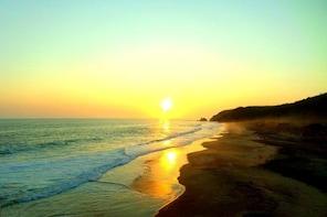 Beach And Sunset In Mazunte Magic Town And Punta Cometa