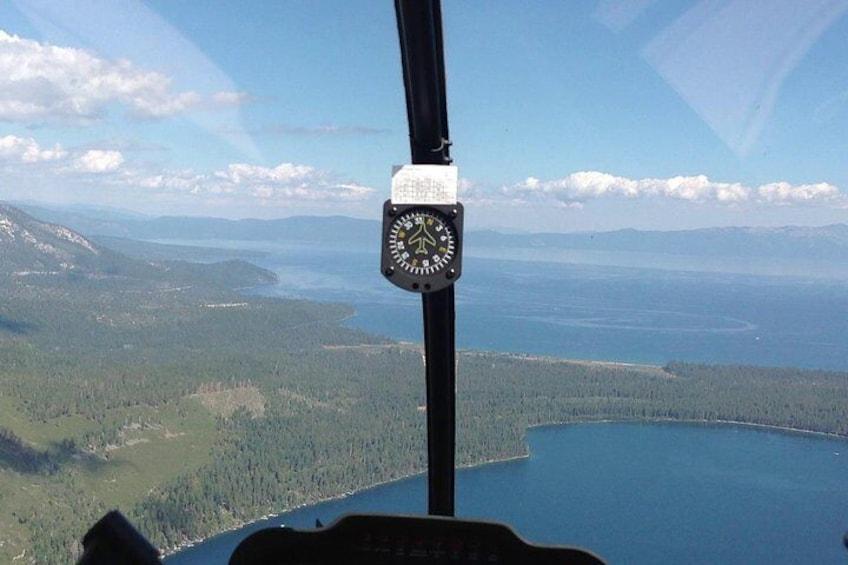 Fallen Leaf Lake and Lake Tahoe