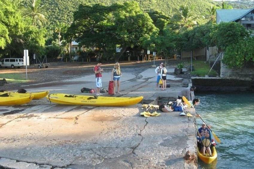 Kayak Launch at Napoopoo Pier, Kealakekua Bay