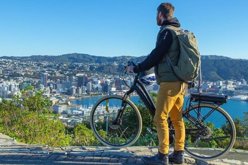View from electric biking to Mt Victoria