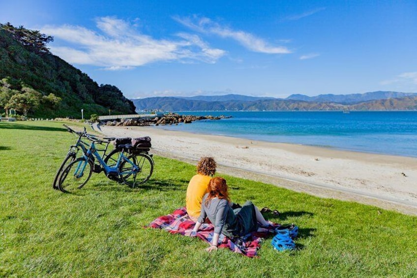 Ride out to Scorching Bay, Wellington's most beautiful swim spot