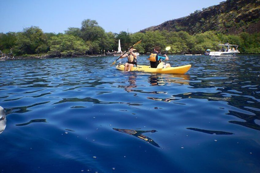 Kayaking at Captain Cook Monument
