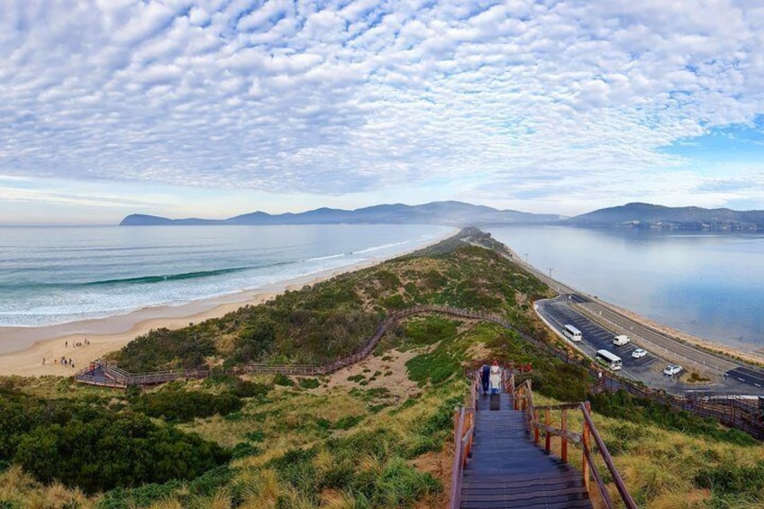 The views at The Bruny Island Neck