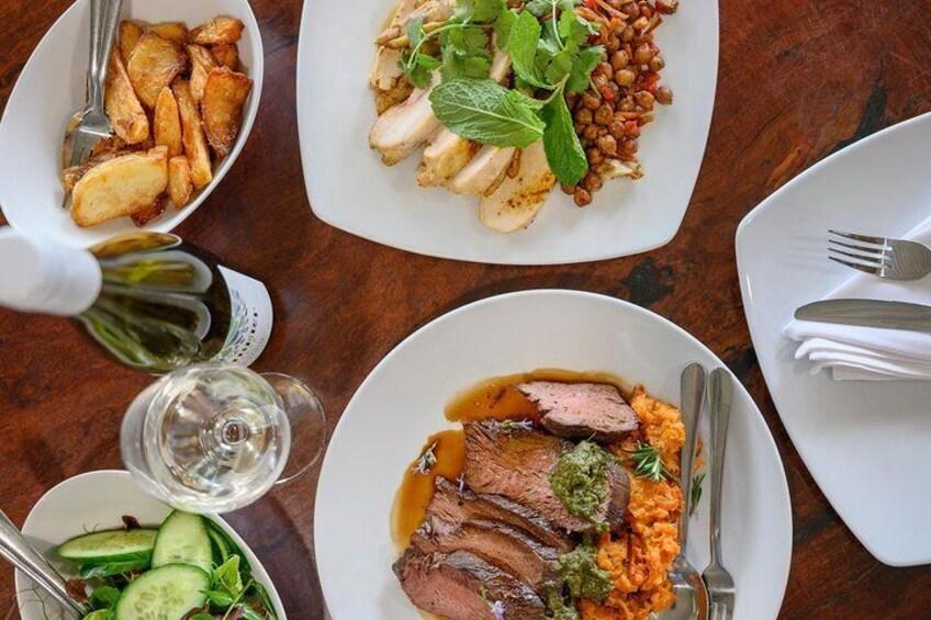 Gourmet lunch at Lambert's Estate