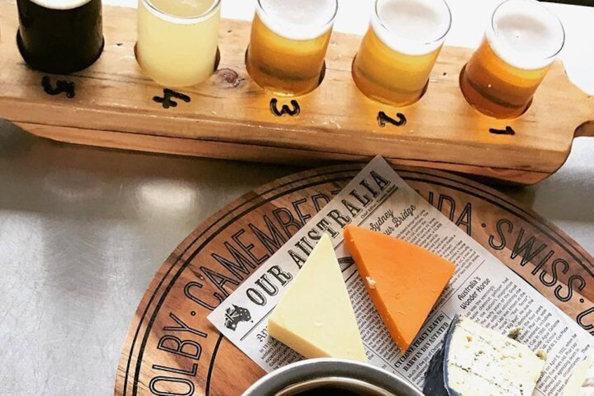 Opt to finish your day with free time at a craft brewery.
