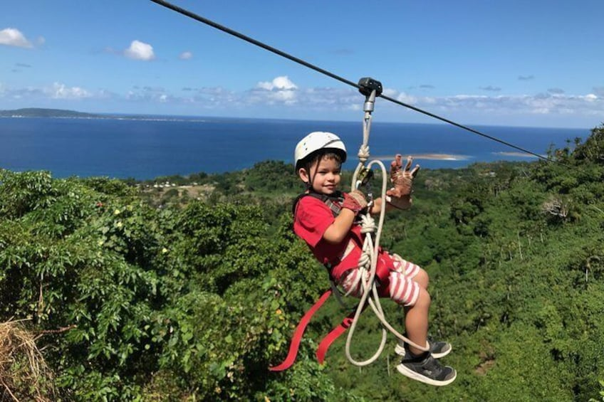 Show item 3 of 10. Kids as young as four years are happy to zipline!