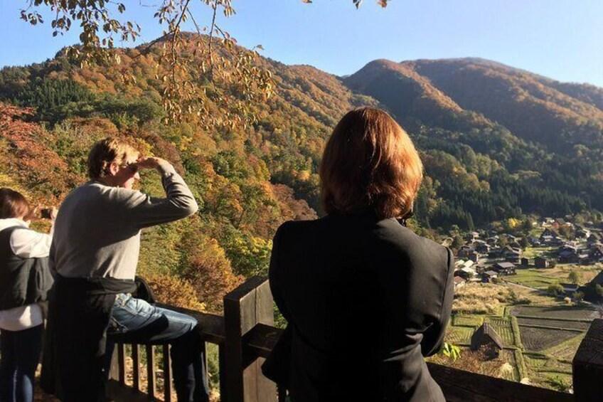 Show item 2 of 8. Low sun Autumn at Shirakawago outlook