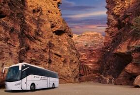 From Petra Jordan: One way bus shuttle Transfer to Tel Aviv