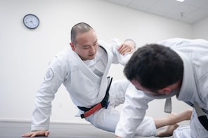 Group lesson Jiu Jitsu full of fun fighting techniques
