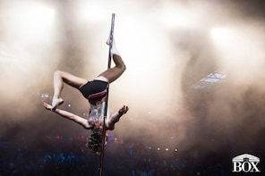 Challenging pole dancing lesson at Sportief Paaldansen