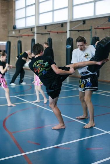 60 minutes of active kickboxing at Silent Dragon