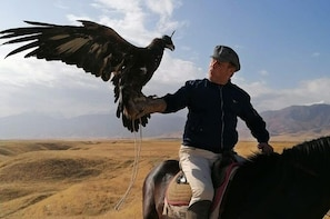 Huntings with eagles and stay in yurt
