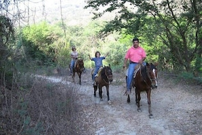 HORSE BACK RIDING WITH DANITOURS MONTAIN RURAL AREAS AND SAND BEACH