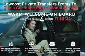 Tunis Carthage airport standard car transfer to Borj Cedria