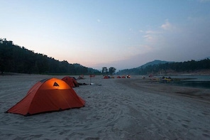 River Side Camping in Manali | Bonefire + Tents