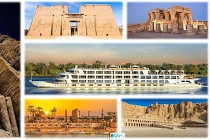 5 Day - 4 Night Nile Cruise Ship Sailing Between Luxor and Aswan Upper Egyp...