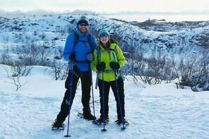 Snowshoes hike in Lofoten