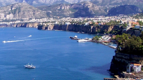 Landscape view of the Amalfi Coast during the day in Italy