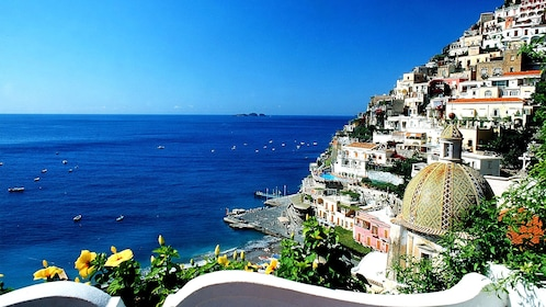 Scenic blue waters on the Amalfi Coast in Italy