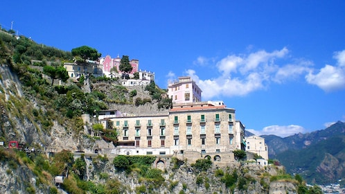 Close up image of a building on the Amalfi Coast in Italy