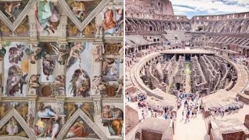 Rom an einem Tag: Geführte Tour mit bevorzugtem Einlass: Vatikan, Kolosseum...