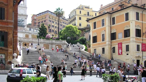 View of the Spanish Steps in the city of Rome
